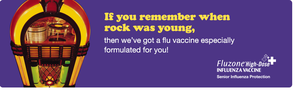 Image: If you remember when rock was young, then we have a flu vaccine specially formulated for you.
